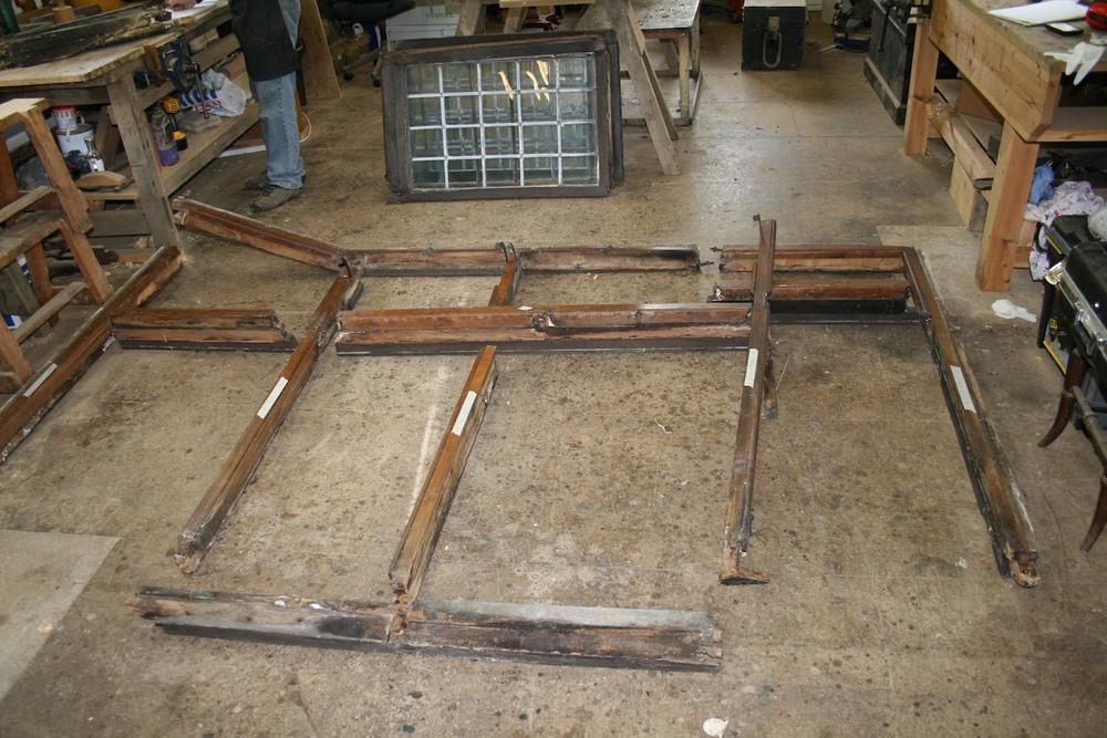 Restoring an oak bay window in our workshop in east sussex
