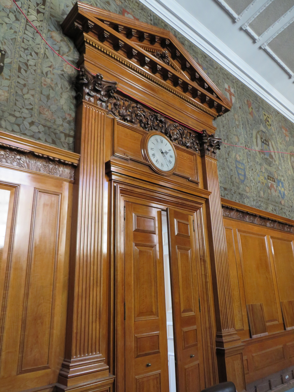 Midland bank boardroom walnut door