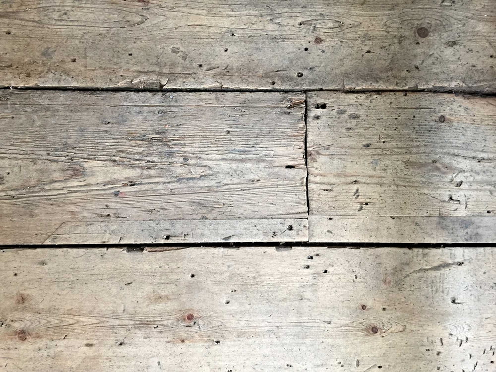 Character of historic wooden flooring