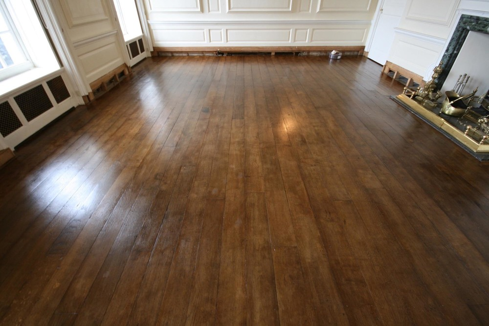 Finished restoration of period wooden flooring