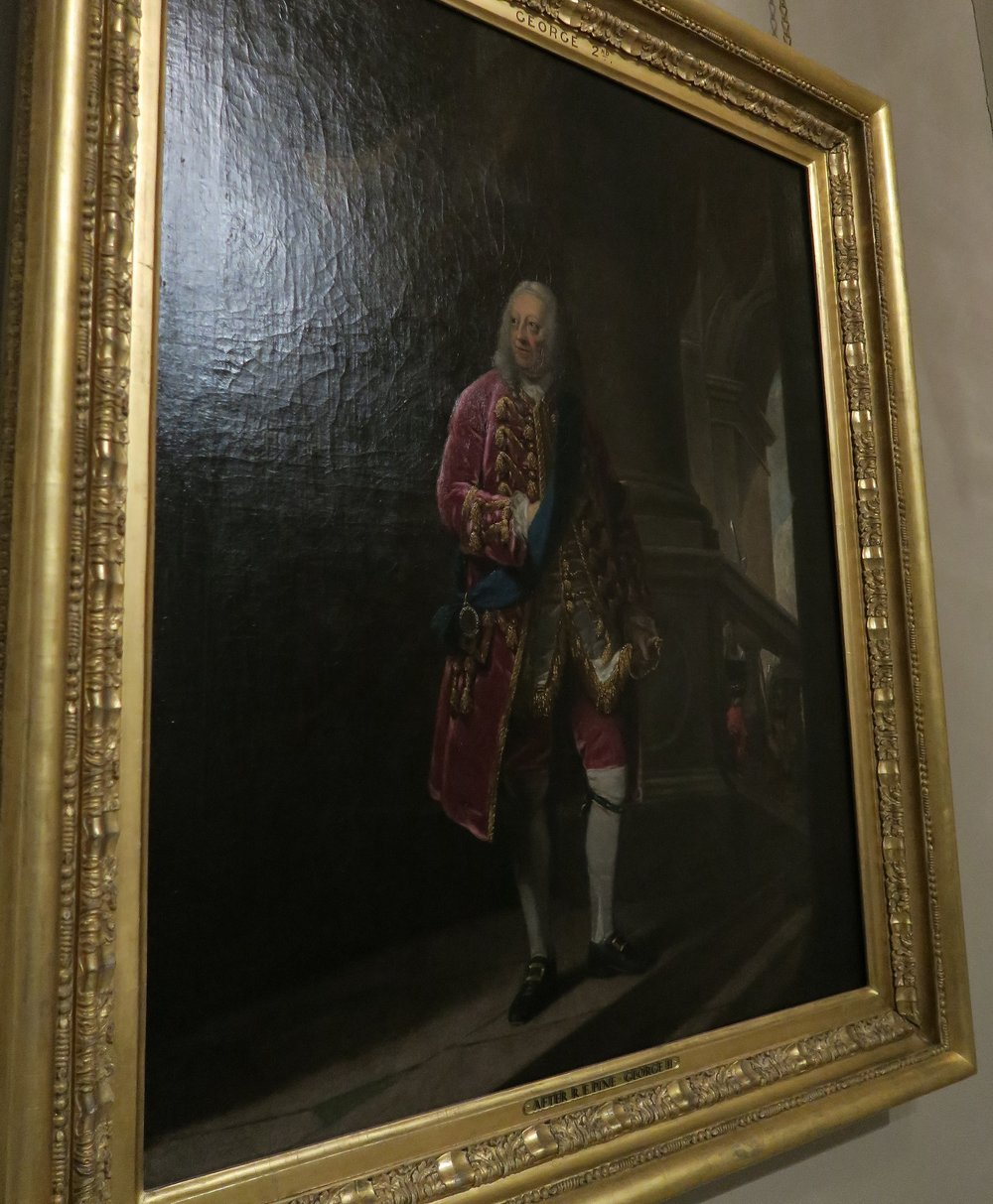 King George II by Robert Edge Pine in 1759 at the top of the Kings Staircase
