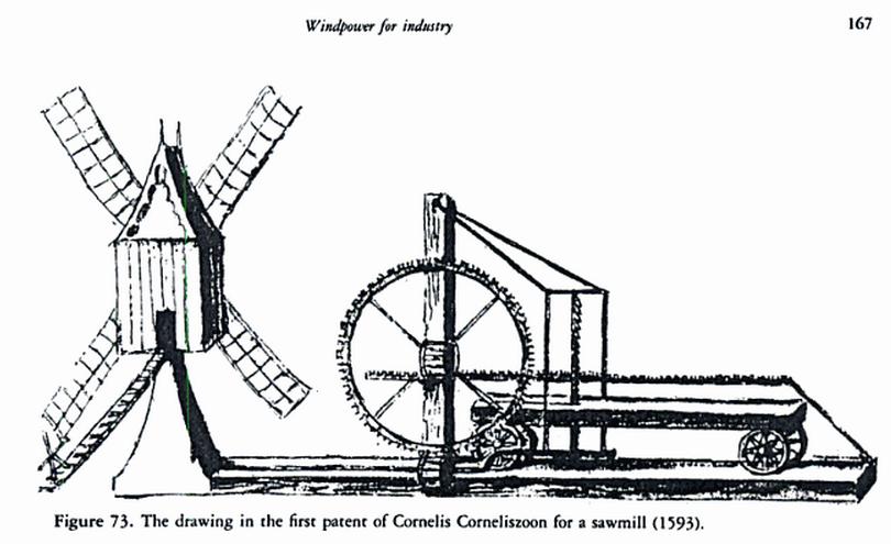 Cornelis Corneliszoon patent sawmill 1593