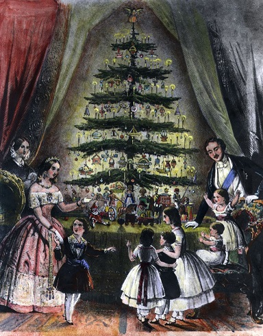 The Queen's Christmas Tree at Windsor Castle - 1848