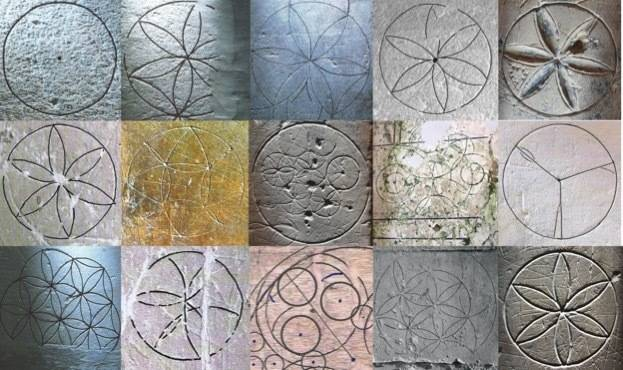 Collection of Daisy Wheels from Norfolk and Suffolk Medieval Graffiti Survey