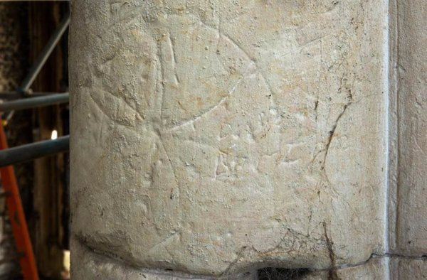 Marks found on the remains of Priory Church in Essex