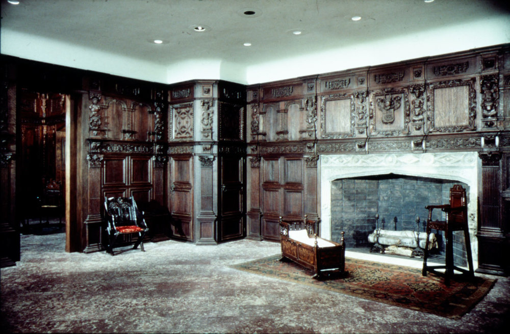 Oak panelling in the home of William Crowe