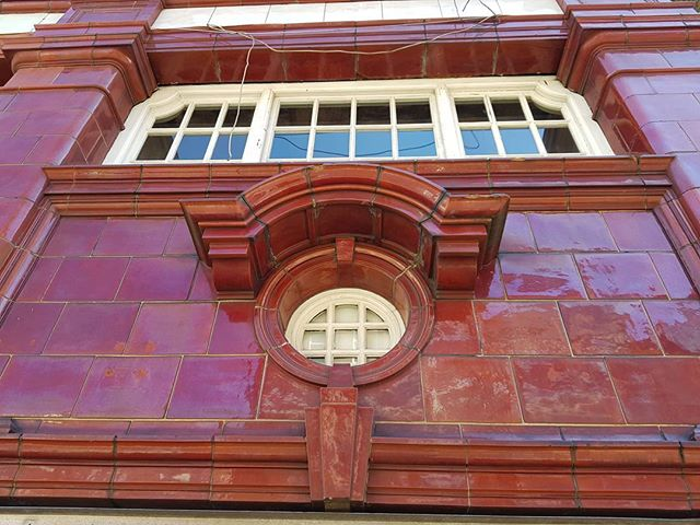 Victorian glazed tiles - Hampstead Underground