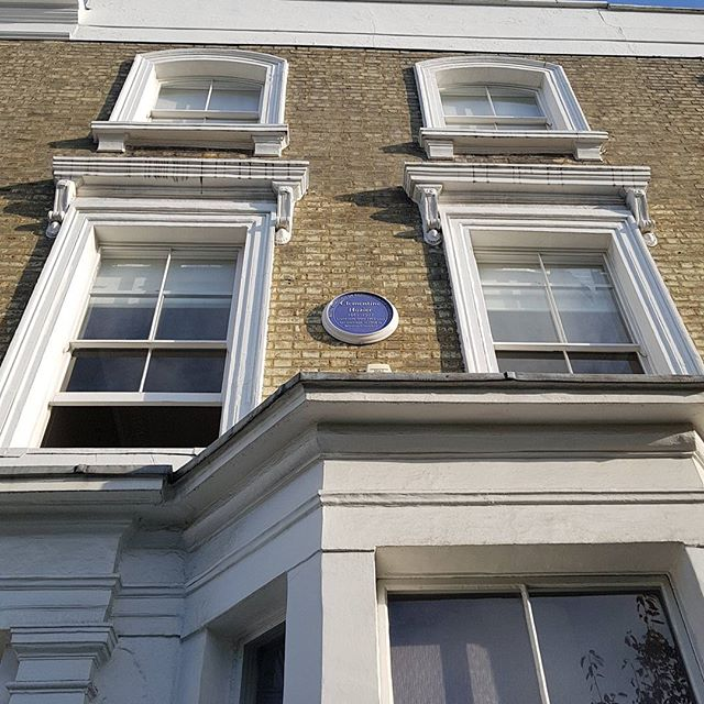 Kensington today. I am working in the former residence of Clementine Hozier, Sir Winston Churchill's Wife