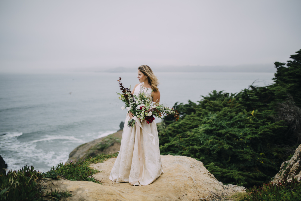 Nataly Zigdon Photography | San Francisco Bridal Shoot | Lands End | Roots Floral Design