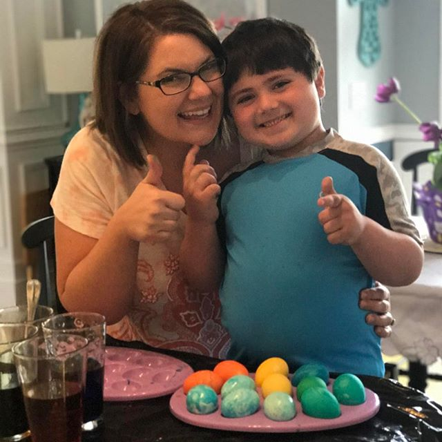 Easter egg dying success! #easter2017