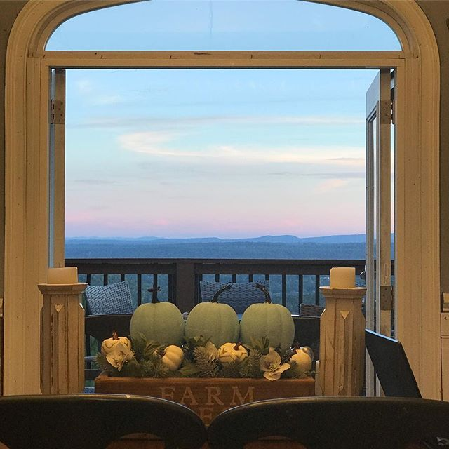 I spend too much time looking at Instagram and not nearly enough time looking out these doors. . . . #Godisgood #myview #mountaintop #mountainparadise #myownparadise #sunsetcliffs #farmhousekitchen