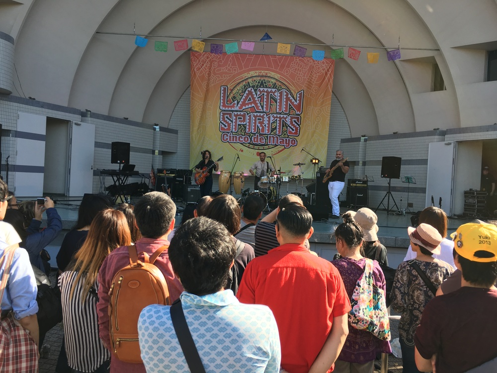 At Yoyogi Park for the Latin Spirits Cinco de Mayo festival.