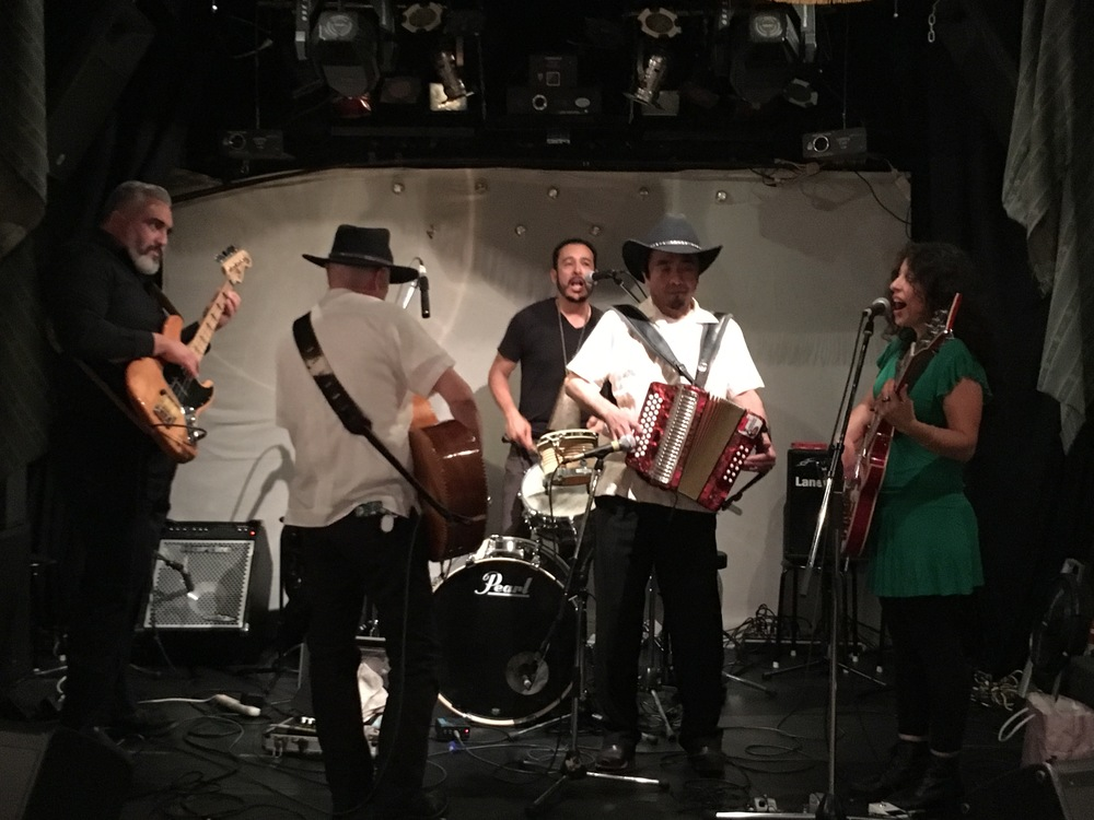 Rehearsing with Conjunto J for our show in Osaka at Do With Cafe