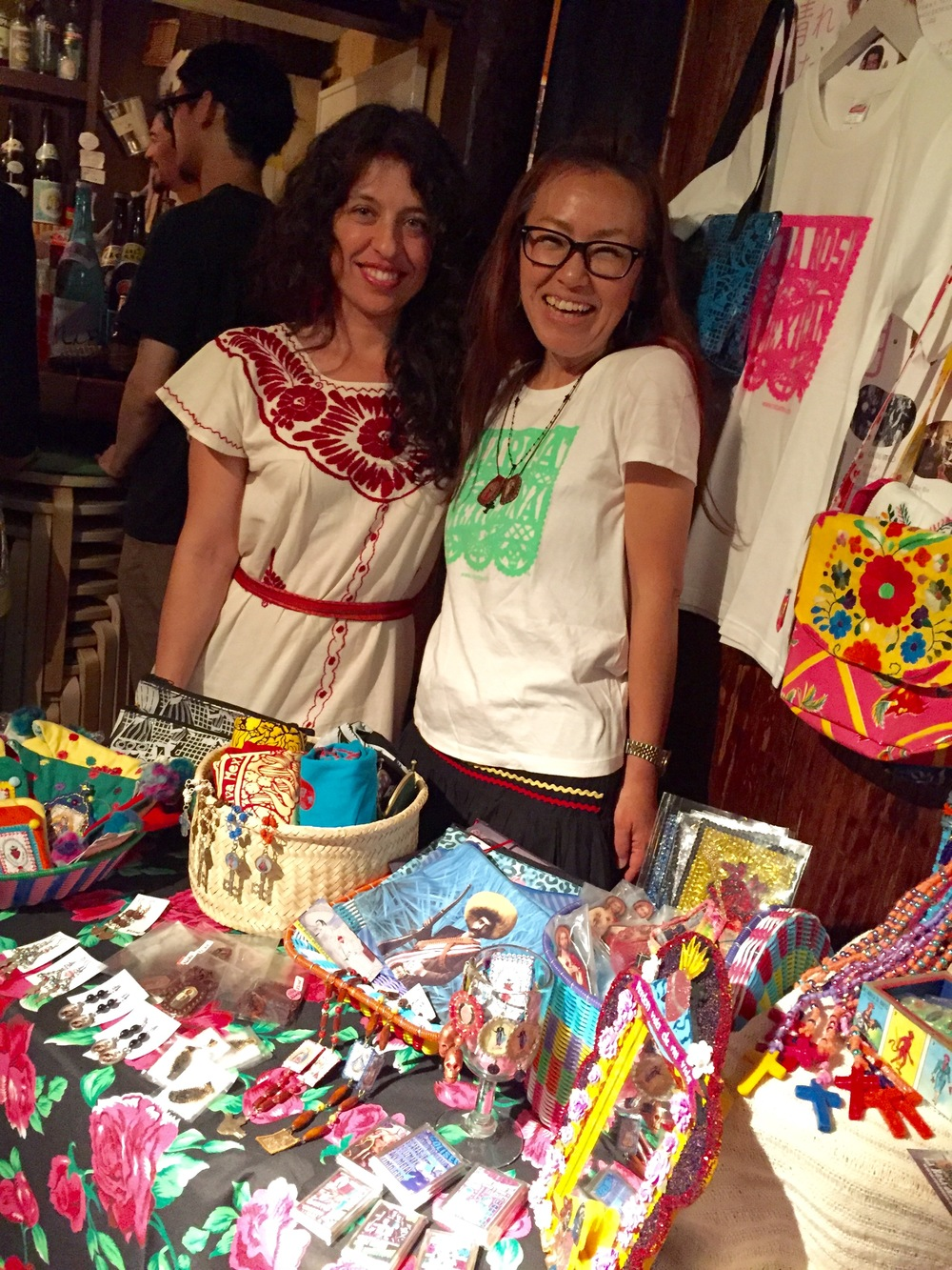 Eddika and Yuka with her items from La Rosa Mexicana