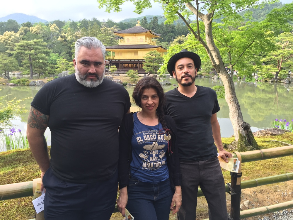 Us and the Golden Pavilion, Kyoto Japan