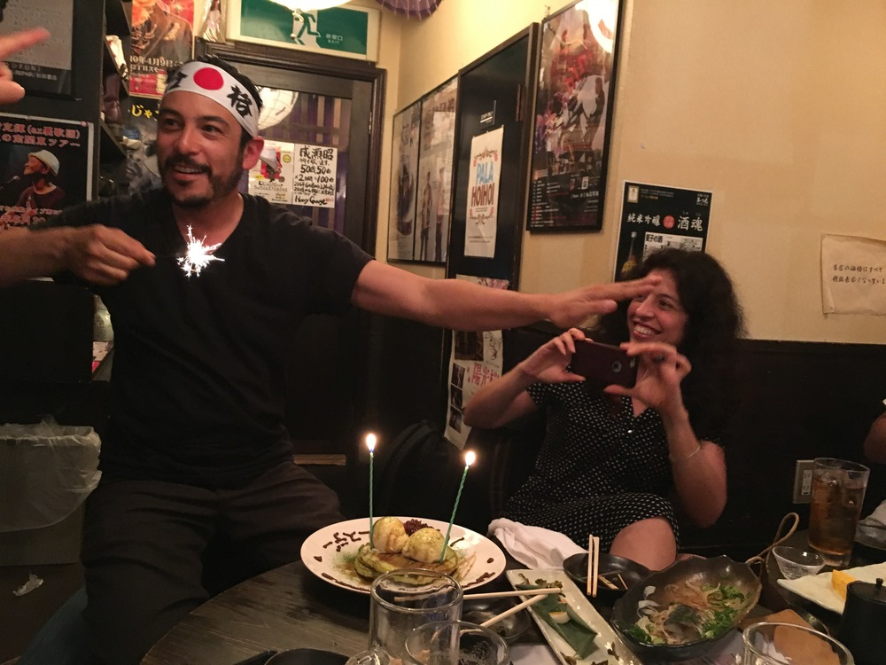 Lucky D who got to celebrate in Japan. Happy Birthday Dominique!