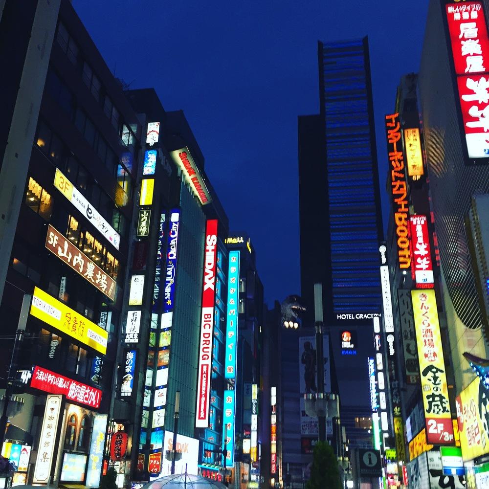 Godzilla creepin in Shinjuku