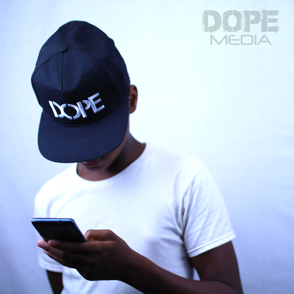 BLACK DOPE HAT  - All black DOPE snap backPerfect Match for the I AM D.O.P.E. T Shirt!One Size Fits All
