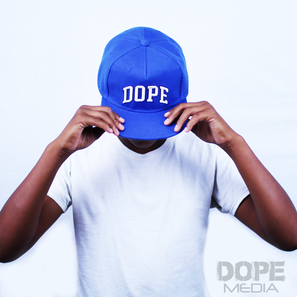 BLUE DOPE HAT - Blue DOPE snap back One Size Fits All