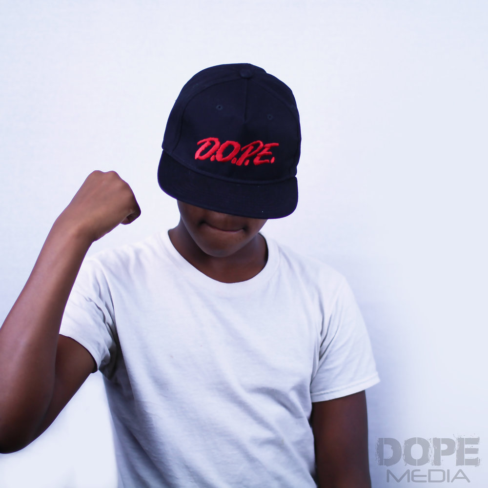 Black and Red D.O.P.E. HAT - Black D.O.P.E. snap backMatches the C.R.E.A.M. (Christ Rules Everything Around Me) shirt perfect!One Size Fits All