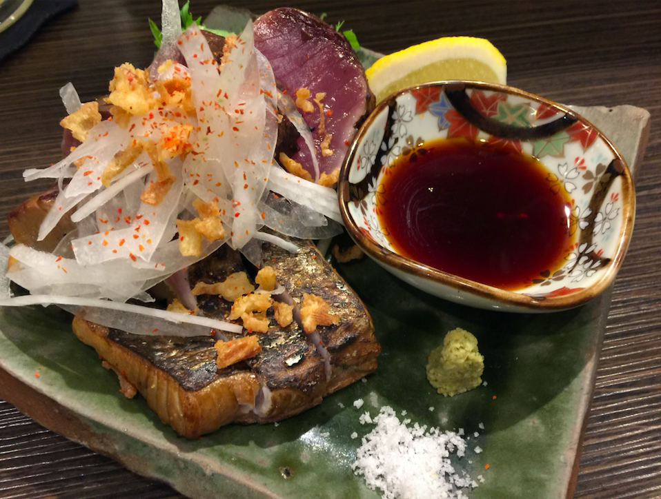 2nd PlaceSake&Sashimi - Fresh or smoked sashimi, both go great with sake!