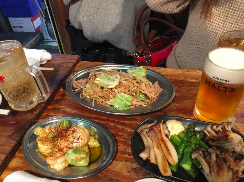 Various dishesgood with beer -
