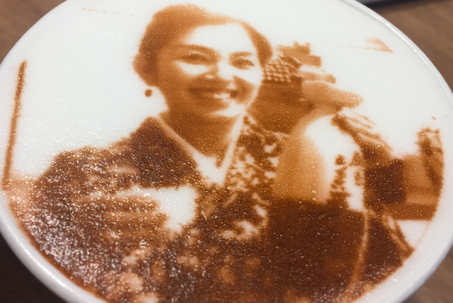 Picture Latte - You can print your photo on top of the latte!