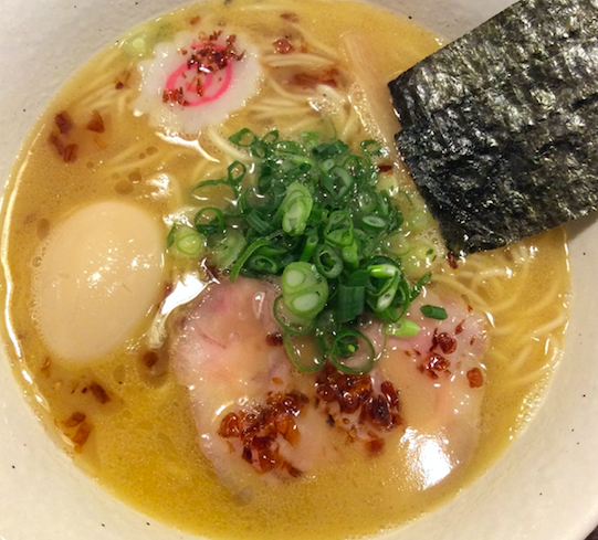 3rd place: Ramen - You will try…Ramen with creamy chicken base! (Similar to TONKOTSU style but made of chicken)
