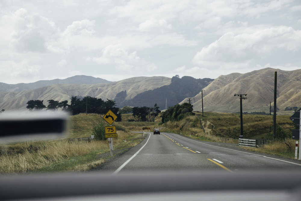 The road to Palmerston North - New Zealand.