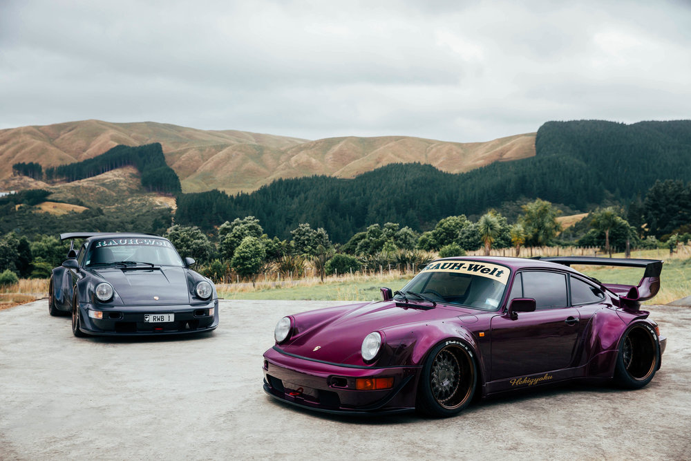 The two RWB NZ Porsches together for the first time. How incredible is the backdrop?