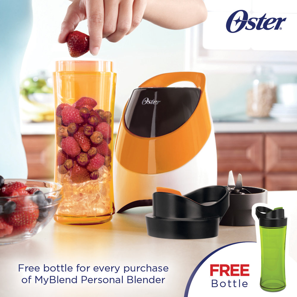 Get a FREE Green Bottle with every purchase of a MyBlend Personal Blender!
