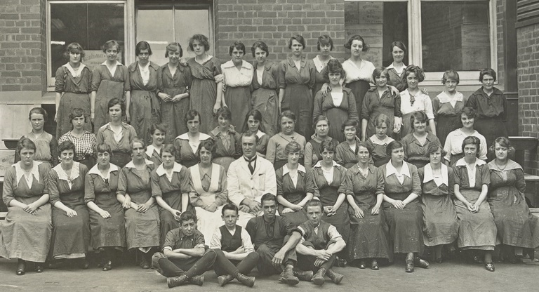 Women have a long history of precarious work in Australia.  Match factory workers - primarily young women - Melbourne 1919, courtesy State Library Victoria.