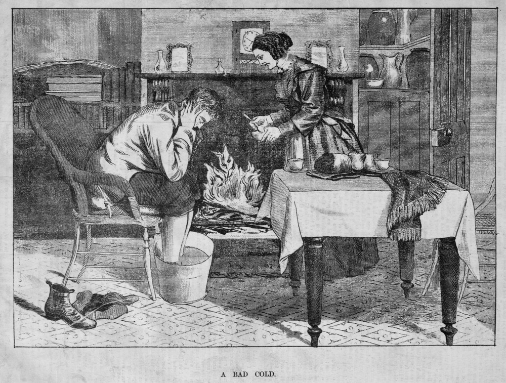 While many things have changed in the last 150 years, the expectation that women will provide unpaid care has been markedly resilient to changing social norms.  Illustration courtesy of the State Library of Victoria  (1880 wood print).
