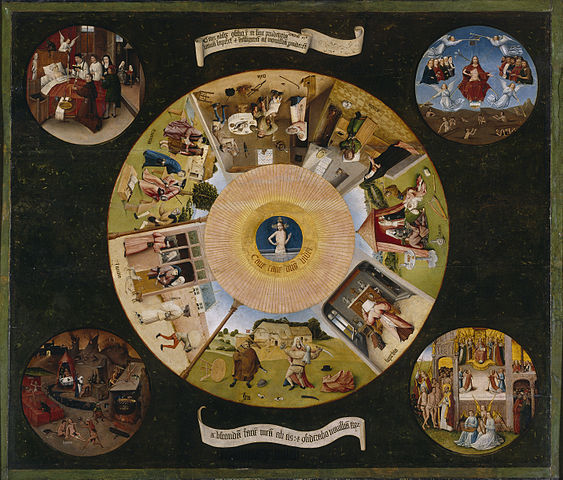 Hieronymus Bosch (or follower): The Seven Deadly Sins and the Four Last Things