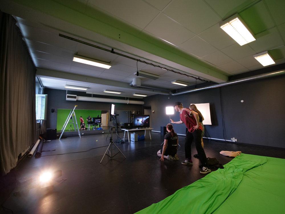 Bild från multilokalen med plats för dans-, teater- och mediaverksamhet!