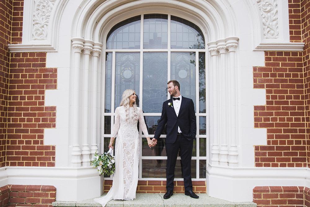 Wedding photography framed couple