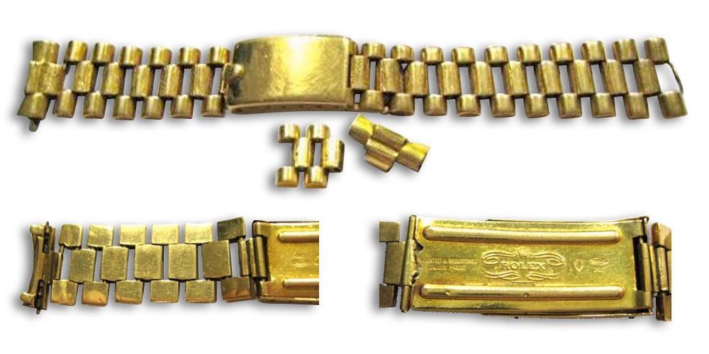勞力士全金總統錶帶(修理前)