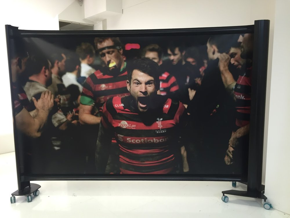 Blackheath Rugby KwickScreen, Custom Black Tubes & Body