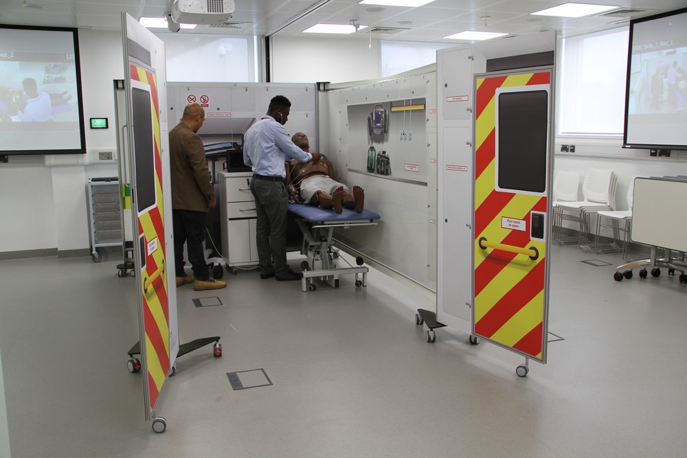 'Simbulance' in use at King's College Hospital Simulation Department.