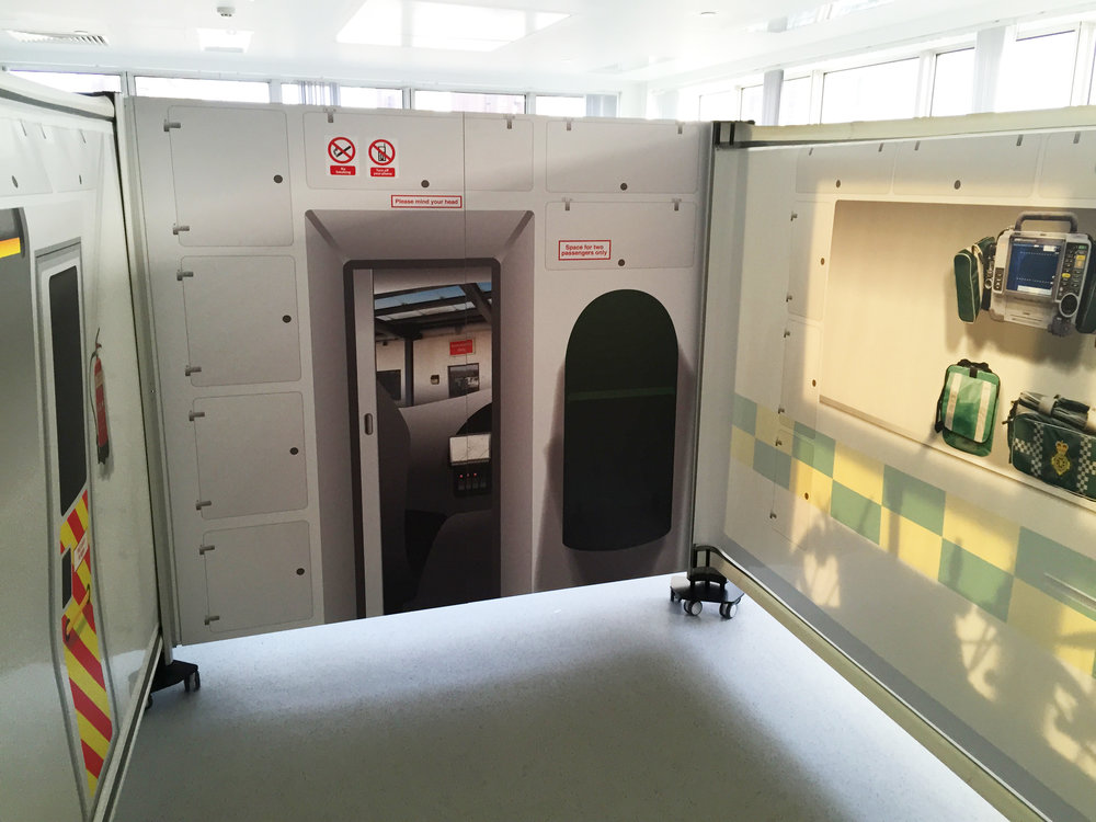 Imperial College Centre for Engagement & Simulation Science (ICCESS) 'Inside the Simbulance'.