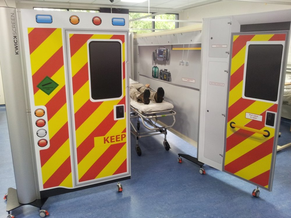 KwickScreen Simbulance for the Simulation Suite at Canterbury Christ Church University