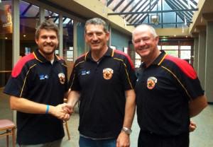 (From left to right: President Matthew Brew, Senior Coach Gary Frangalas, Vice President Peter Maskiell)