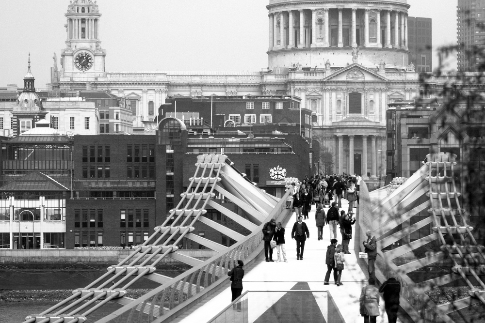 The Millennium Bridge - Links to the contact us page