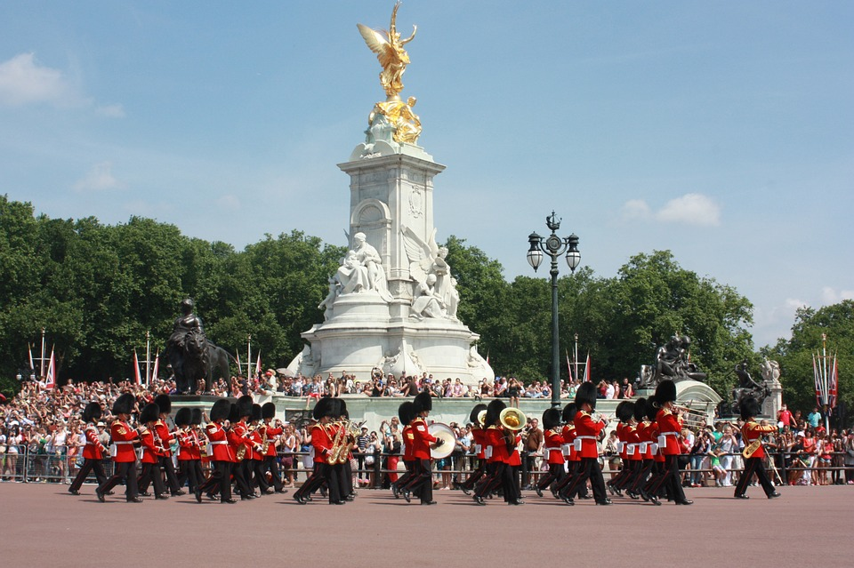 The Queen's Guard on parade - Links to our Management Team page.
