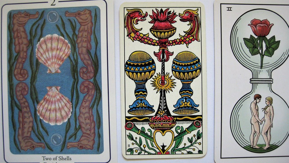 Fifth Tarot by Martien & Teressena Bakens / Classic Tarot by Stuart R Kaplan / Alchemical Tarot by Robert M Place