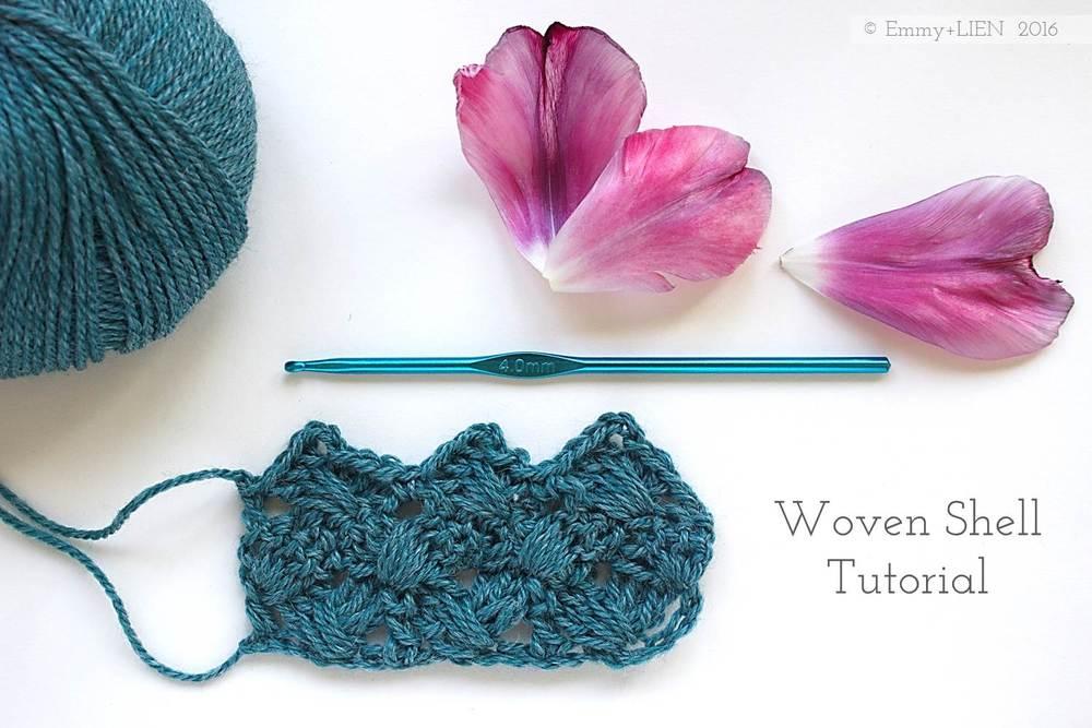 Woven Shell Crochet Tutorial by Emmy+LIEN