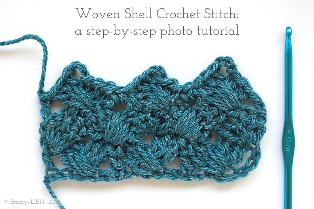 Woven Shell Crochet Stitch: a step-by-step photo tutorial