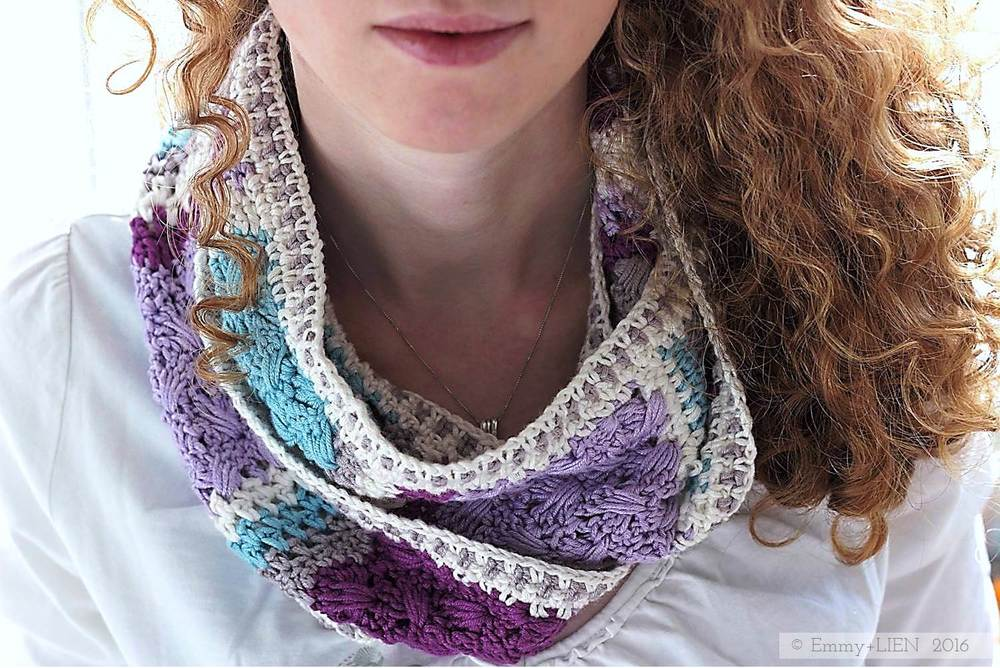 Lavender Skies - Cowl | a 3-in-1 crochet pattern by Eline Alcocer @ Emmy + LIEN