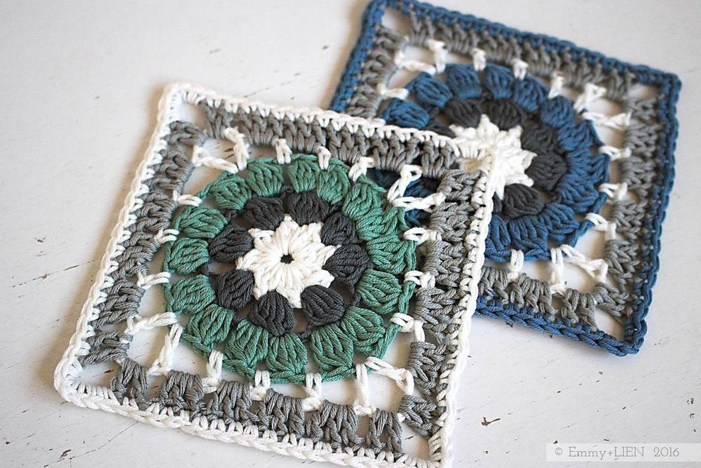 Pattern Tutorial Dally Dahlia Granny Square Emmy Lien