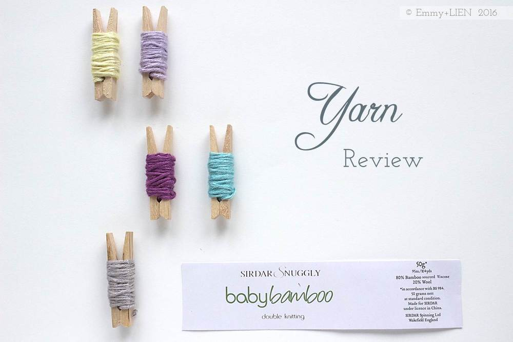 Yarn review: Sirdar Snuggly Baby Bamboo || Emmy + LIEN blog